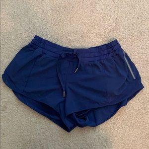 Navy hotty hot shorts lululemon